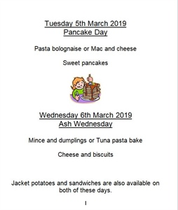 Pancake day and Ash Wednesday